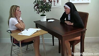 Nun with a Foot Fetish
