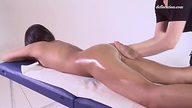 First time massage making for hot virgin Asian
