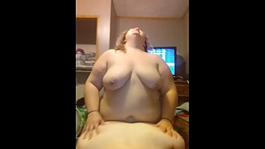 BBW wife uses strap on to fuck PAWG gf from behind while she sucks my cock