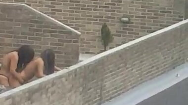 Lesbian Caught on roof
