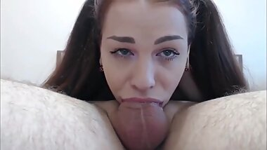 69 Deepthroat His cock until Cums Inside My Mouth